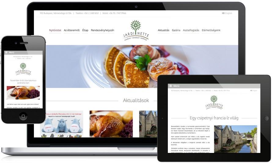 Jardinette étterem megújult weboldala  b80e3133bf720
